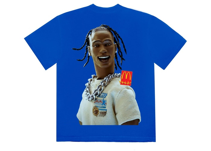 Travis Scott x McDonald's Action Figure Series III T-Shirt Blue