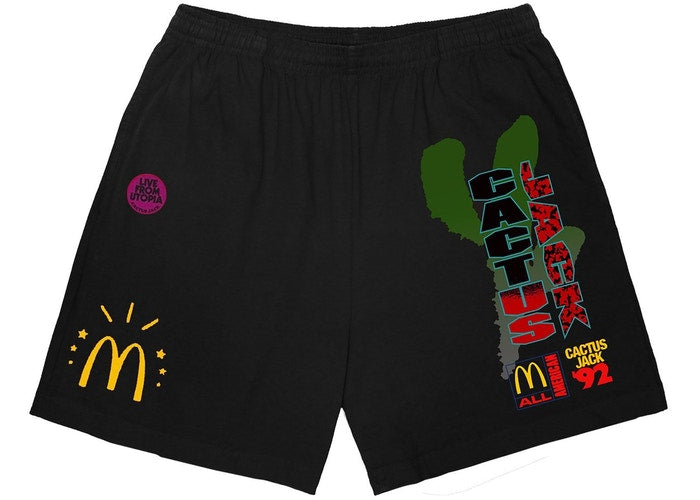 Travis Scott x McDonald's All American '92 II Shorts Black