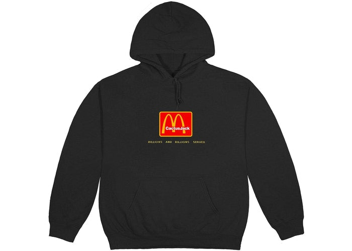 Travis Scott x McDonald's Billions Served Hoodie Washed Black