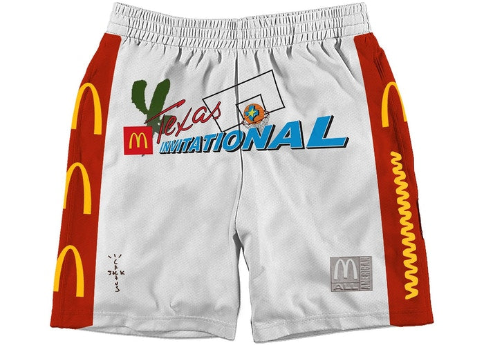 Travis Scott x McDonald's Cactus Jack All American Shorts White