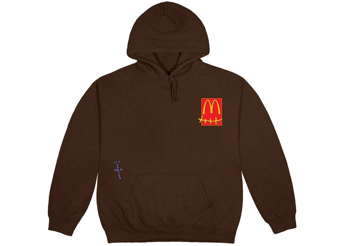 Travis Scott x McDonald's Cactus Pack Sticker Hoodie Brown