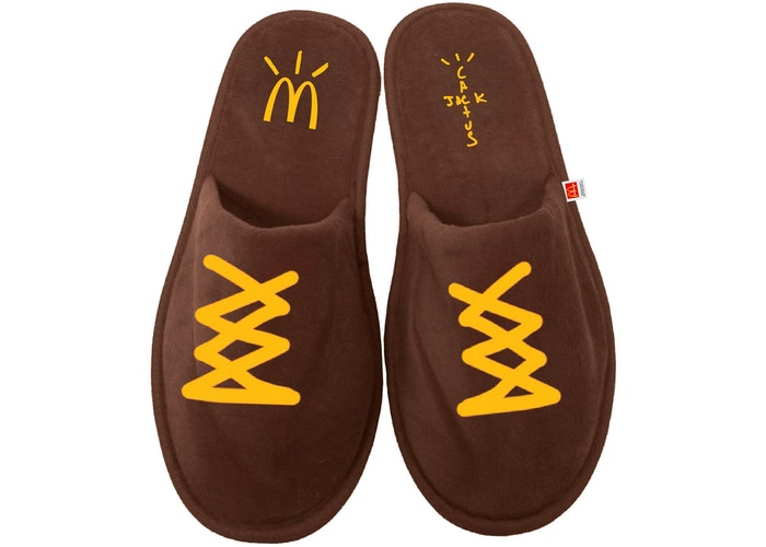 Travis Scott x McDonald's Cj House Slippers Brown