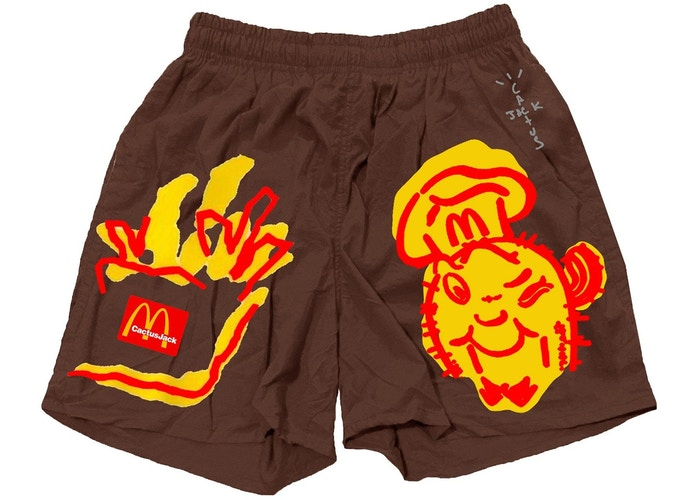 Travis Scott x McDonald's Illustration II Shorts Brown