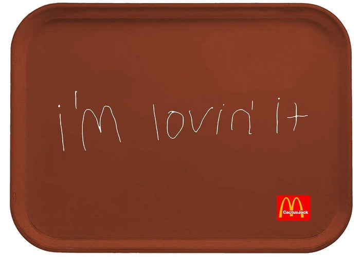 Travis Scott x McDonalds I'm Lovin' It Lunch Tray