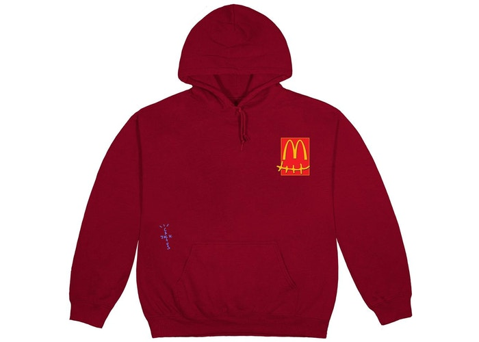 Travis Scott x McDonald's Live From Utopia Sticker Hoodie Burgundy