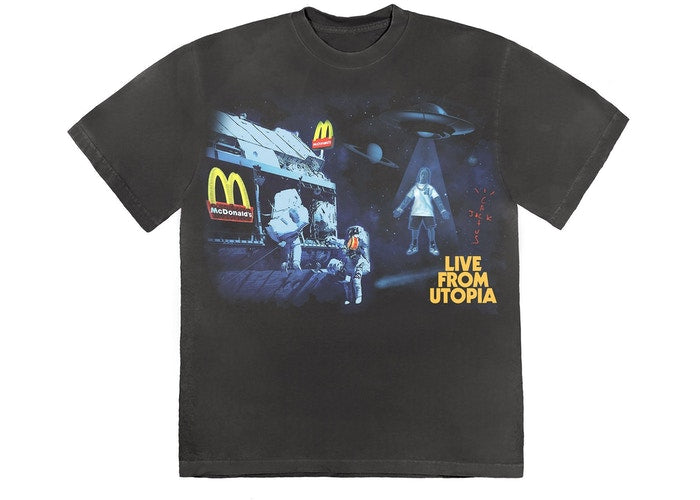 Travis Scott x McDonald's Live From Utopia T-Shirt Black