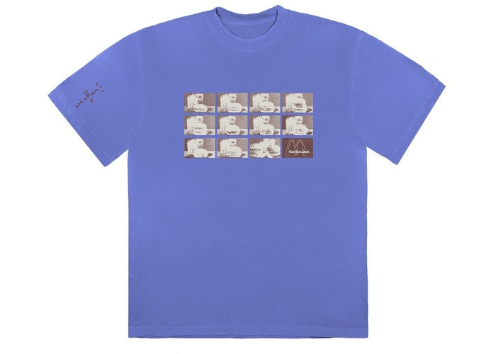 Travis Scott x McDonald's Menu Mono Logo III T-Shirt Washed Purple