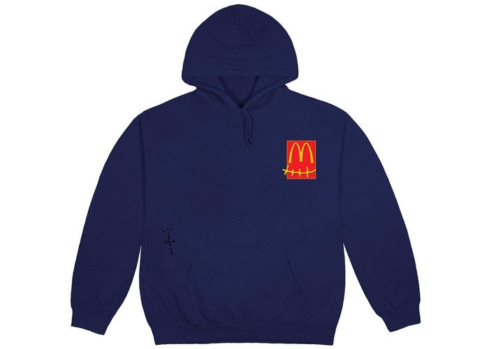 Travis Scott x McDonald's Up All Night Sticker Hoodie Navy