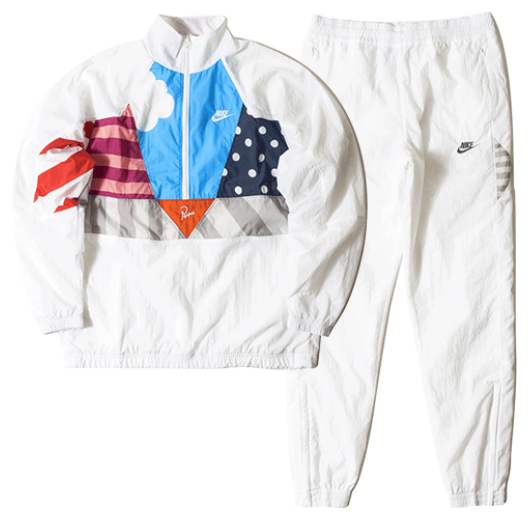 Nike x Parra Woven Warm Up Tracksuit SET (White)