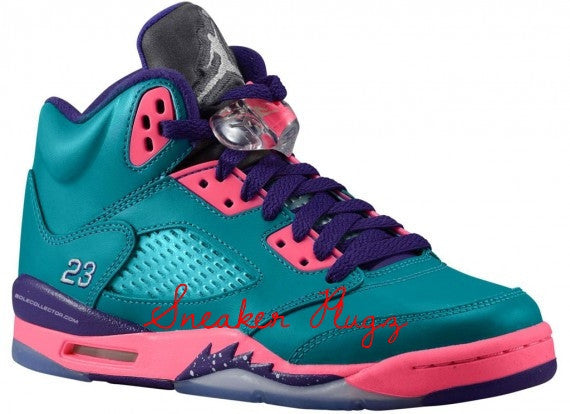 Air Jordan 5 Retro Tropical Teal Pink Purple
