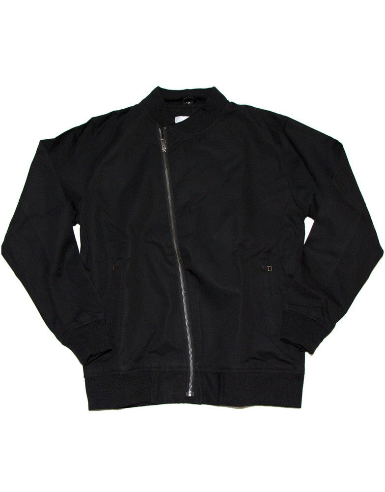 Black Canvas Military Style Jacket