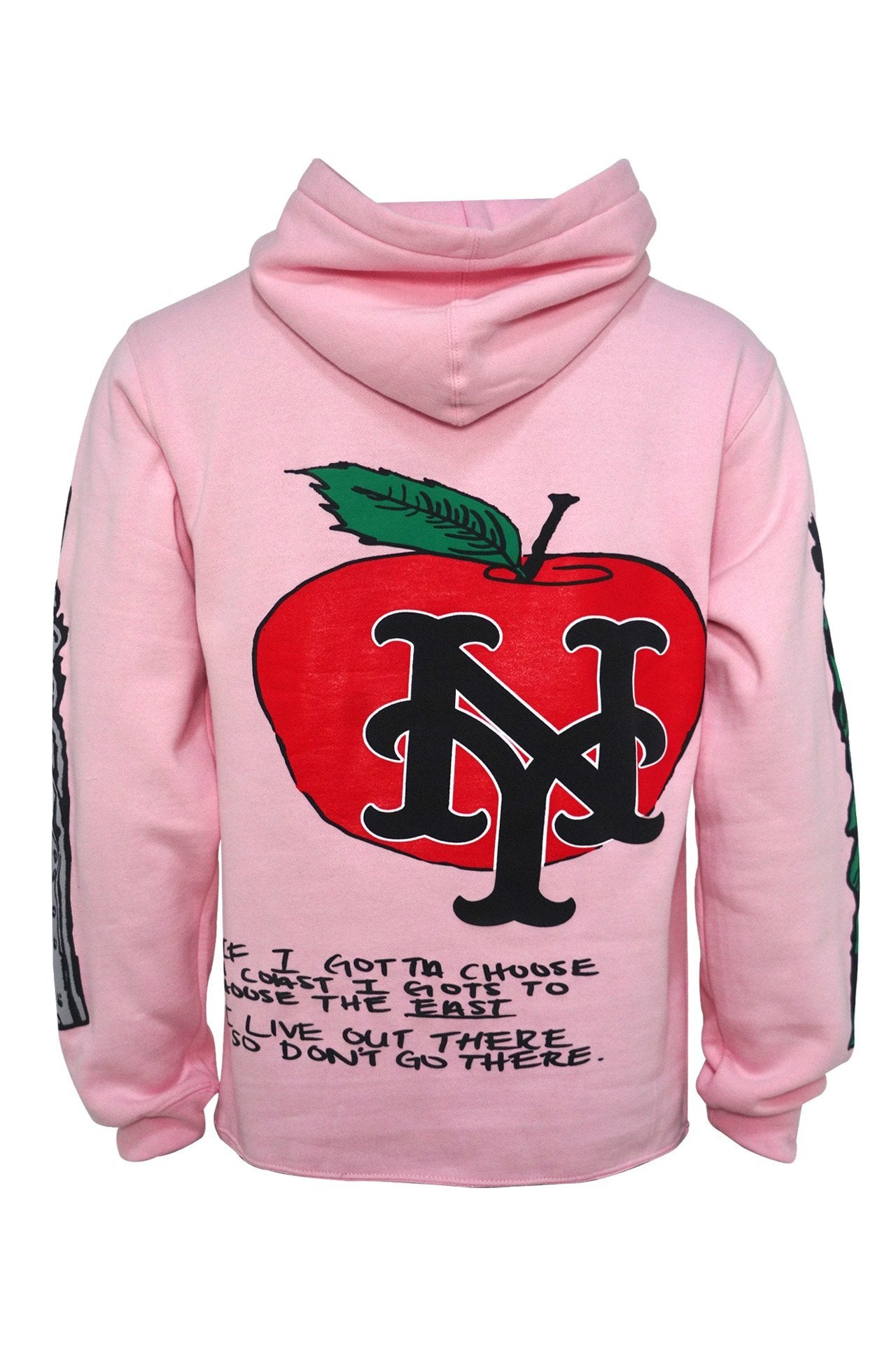 "BY KIY X HOMME FEMME LA ""EAST TO WEST"" HOODIE ""PINK"""