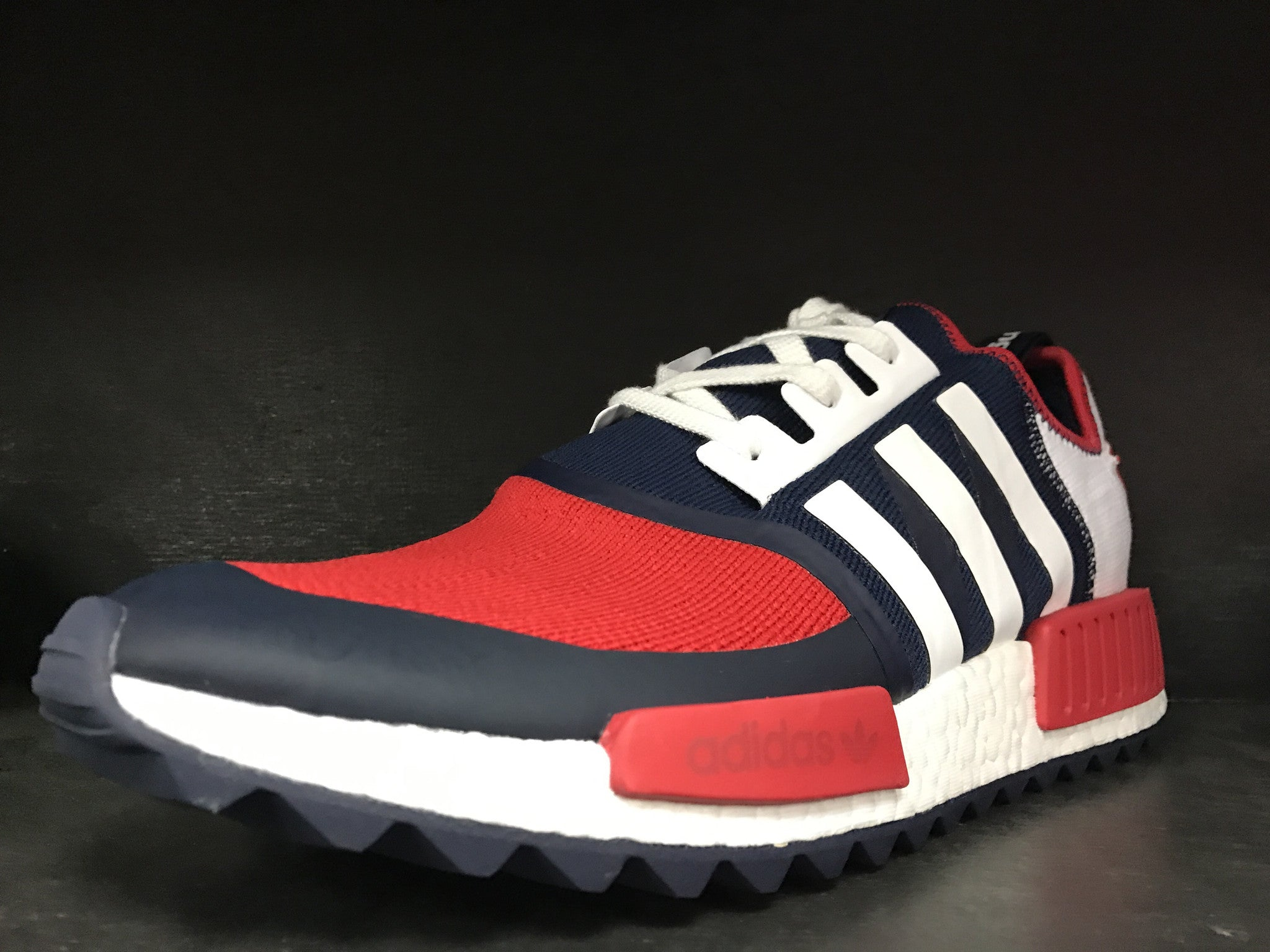 half off a6d88 84cf6 Adidas NMD R1 Trail  White Mountaineering Collegiate Navy