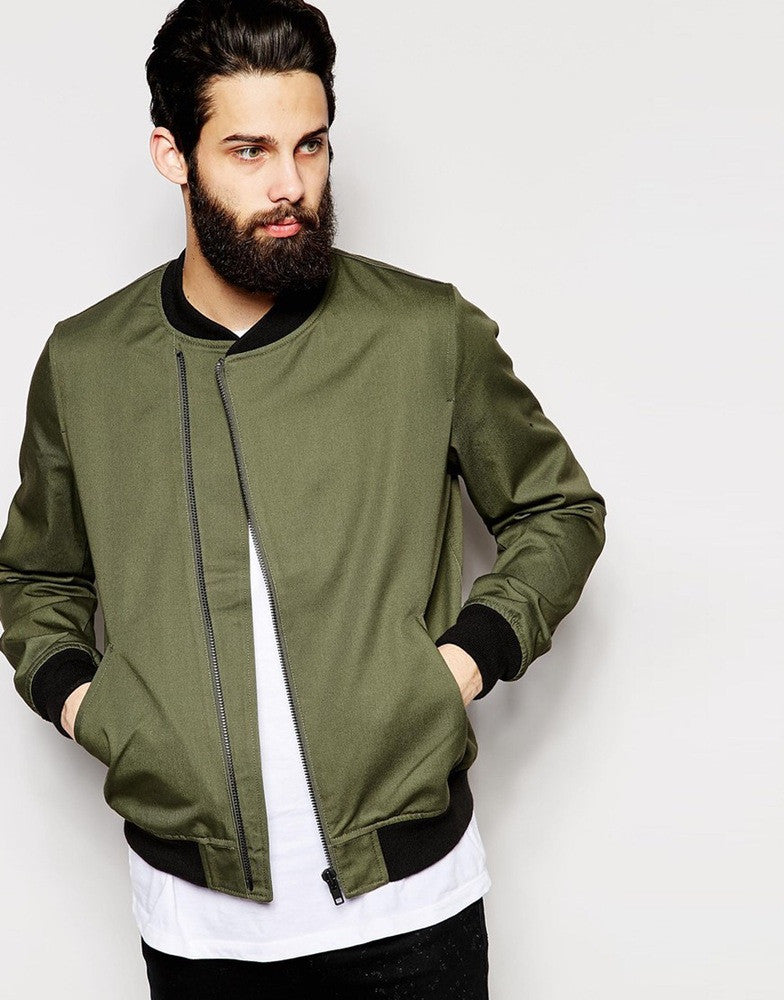 Olive Military Style Canvas Jacket