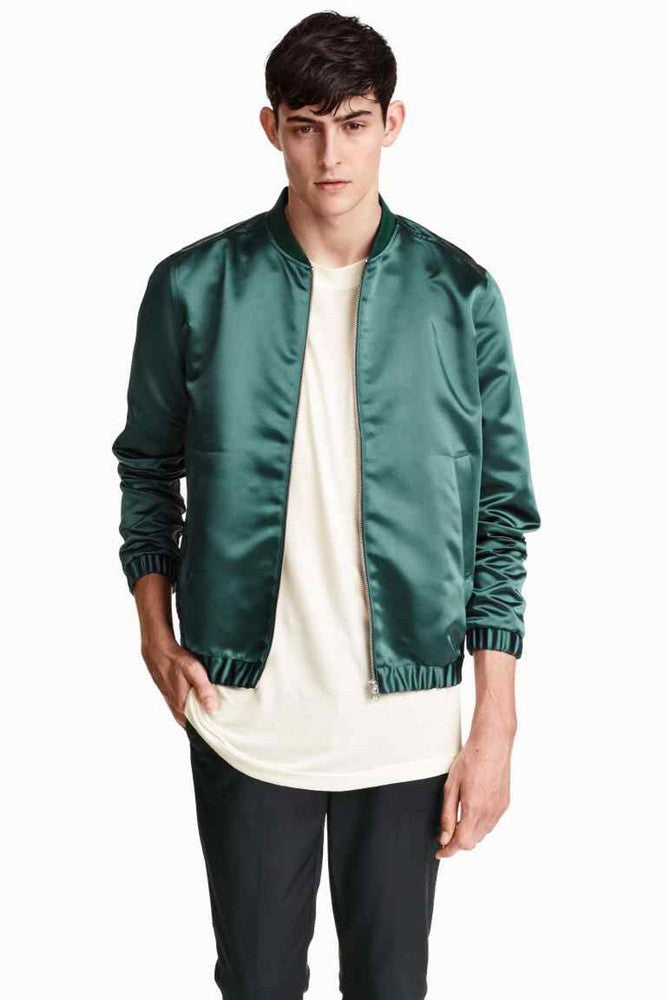 Teal Green Satin Jacket