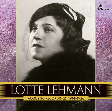 Lotte Lehmann, Vol. 1