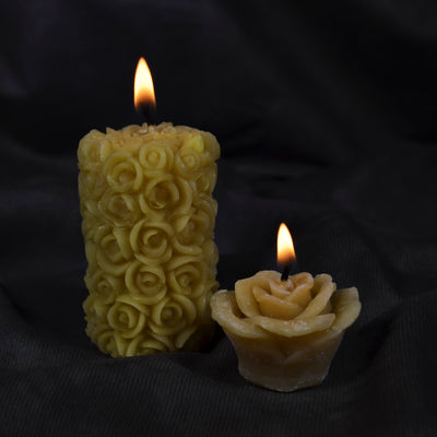 Rose Beeswax Votive Candle