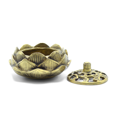 Tibetan Brass Lotus Burner