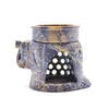 Dark Brown Elephant Soapstone Diffuser Lamp