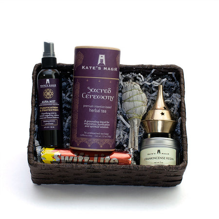 Purification + Ceremony Gift Basket - Kates Magik Gift Basket, - 1