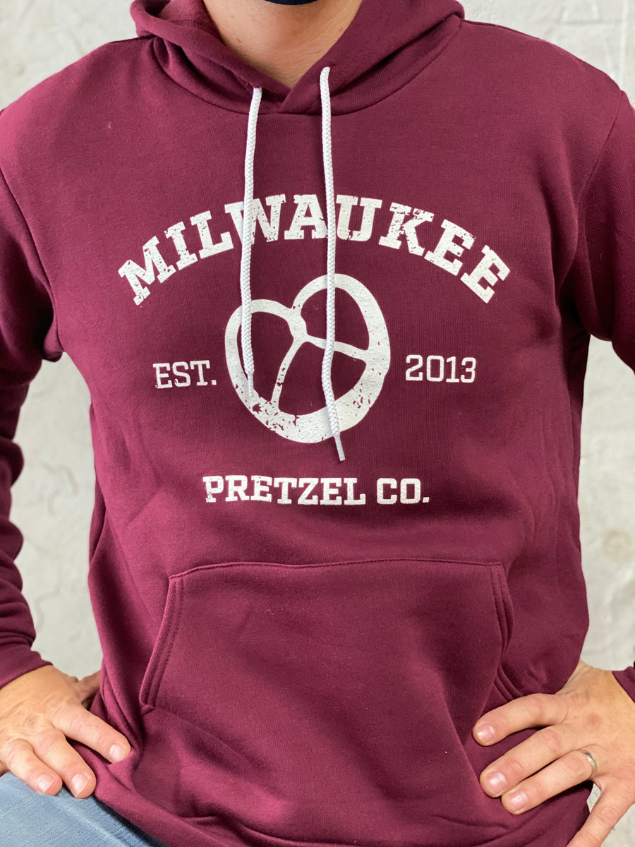 Fleece lined Milwaukee Pretzel Co. sweatshirt