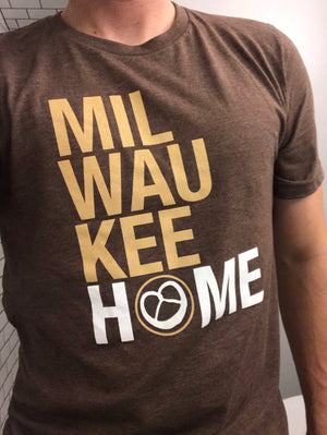 Milwaukee HOME pretzel icon t-shirt