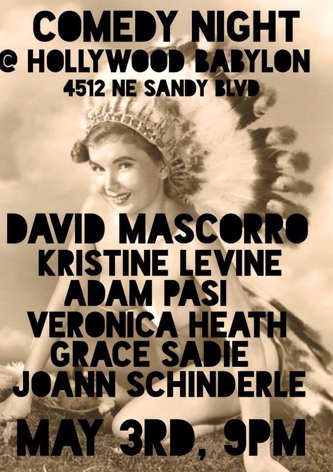 Tonight! free comedy at hollywood babylon
