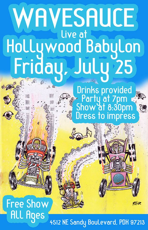 wavesauce_party_hollywood_babylon_pdx_free_live_music_vintage_clothing_store