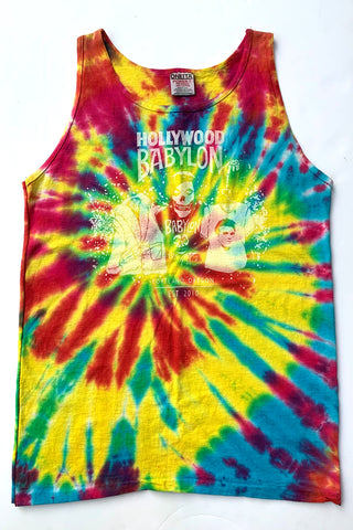 Vintage Tie Dye Tank Screened by Babylon M