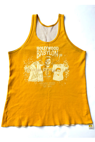 Vintage Yellow Russell Athletic Tank Screened by Babylon M/L