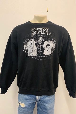 Vintage Black Sweatshirt Screened by Babylon L/XL