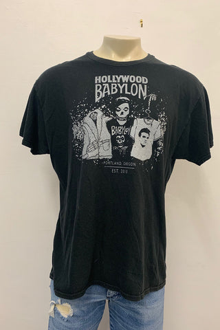Vintage Black Tee Screened by Babylon XL