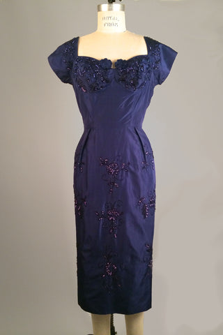 Vintage Blue 40s/50s Bombshell Dress