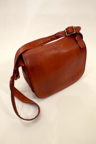 Vintage Coach Saddle Bag