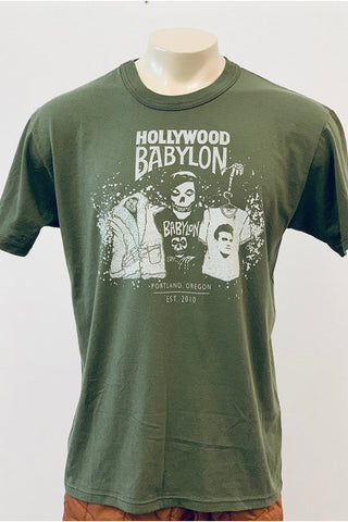 Vintage Olive Tee Screened by Babylon L