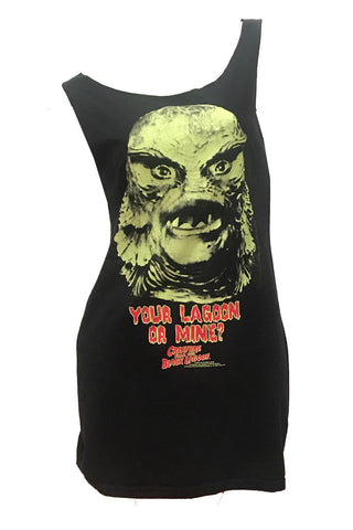 Vintage Creature from the Black Lagoon Horror Movie Reshaped T-Shirt / Tunic / Mini Dress