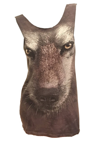 WOLF FACE Reshaped Wildlife T-Shirt / Dress