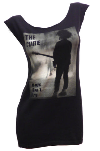 THE CURE Boys Dont Cry Reshaped T-Shirt Mini Dress