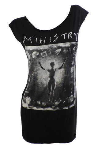 MINISTRY 1992 Two Sided Restyled Rock Tour T-Shirt / Dress