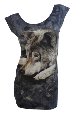 wolf pup restyled tshirt dress