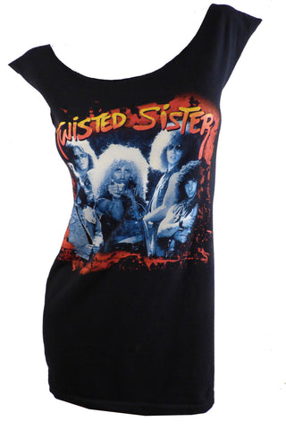 TWISTED SISTER Glam Metal Reshaped T-Shirt / Dress