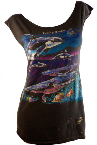 Whales Reshaped Ocean Wildlife T-Shirt / Tunic / Mini Dress