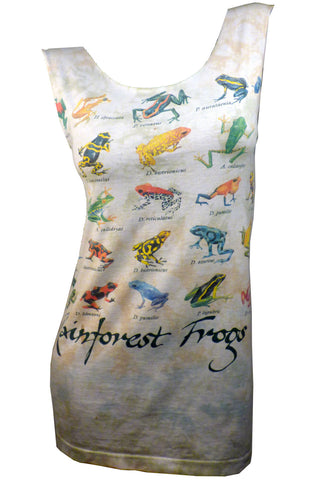 Rainforest FROGS Reshaped Tie Dye T-Shirt / Dress