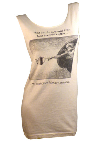 God Created COFFEE restyled T-Shirt / Dress