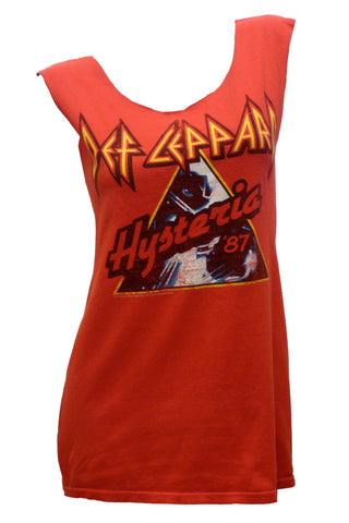 Vintage DEF LEPARD Hysteria '87 Reshaped Rock T-Shirt Dress