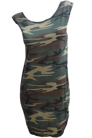Camo Reshaped T-Shirt / Tunic / Mini Dress