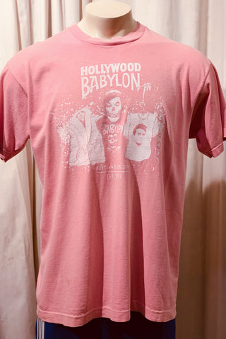 Vintage Pepto Pink Tee Screened by Babylon XL