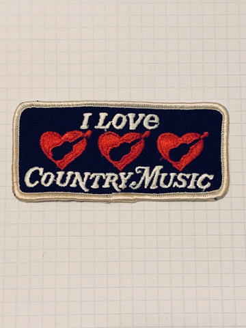 "Vintage ""I Love Country Music"" patch"