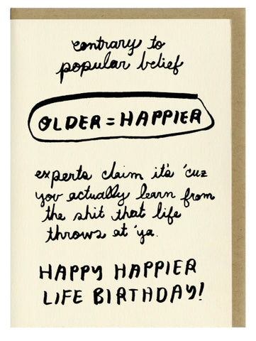 Older = Happier