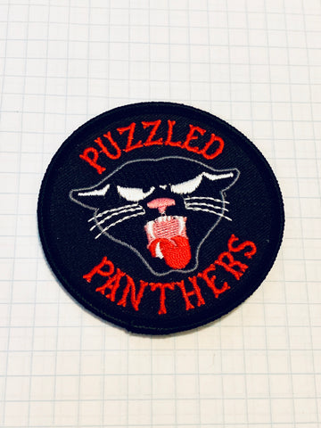 limited edition PUZZLED PANTHERS patch